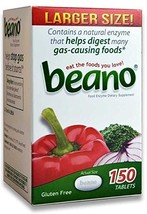 Beano Gas Relief Digestion 150 tablets 300 tablets 2 bottles - $40.72
