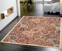 Ottomanson Ottohome Collection Contemporary Paisley Design Area Rug with... - $24.76