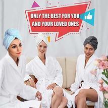 Hair Towel Wrap Turban Microfiber Hair Drying Towels, Quick Magic Hair Dry Hat C image 7