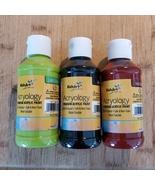 Acrylic Paints, set of 3, Black Red Light Green, Lime Green, 3 4-oz bottles - £9.41 GBP
