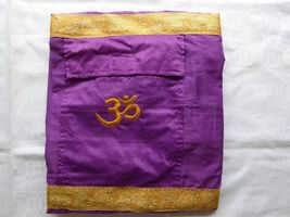 Handmade Purple Silk Yoga mat cover with pocket - $603,70 MXN