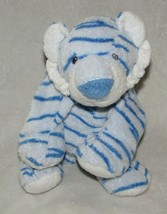 2006 Ty Pluffies Baby Growlers Tiger Blue Sewn Eyes Plush Tylux Stuffed ... - $29.69