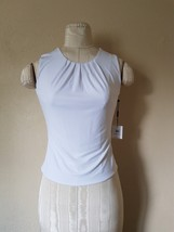 NWT Calvin Klein White Top Blouse  Sleeveless size 2 - $19.99