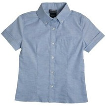 Girls School Uniform S/S Oxford Shirt with Darts Blue 20 1/2 Plus French... - $12.71