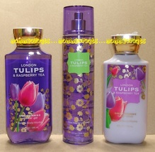 London Tulips Raspberry Tea Bath Body Work Fragrance Mist Body Lotion Sh... - $36.00