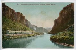Southern Pacific Railroad Train Palisade Canyon Nevada 1910c postcard - $6.44