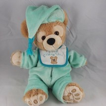 Duffy Bear Plush My First Duffy Pajamas Bib Nightcap Disney Parks Mickey... - $19.95