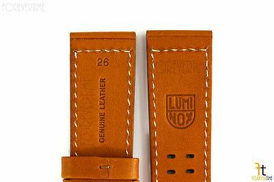 Luminox 1924 1944 Atacama 26mm Miel Tan Cuero Correa para Reloj de Pulsera con /