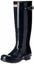 Hunter Original Tall Wellington Welly Navy Gloss Stivali WFT1000RGL 7 New IN Box image 2
