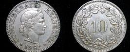 1952 Swiss 10 Rappen World Coin - Switzerland - $8.99