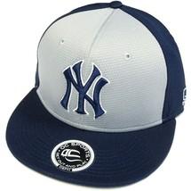 New York Yankees MLB OC Sports Q3 Flat Hat Cap Navy / Gray Two Tone NY L... - $16.99