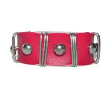 Men Unisex Leather Bracelet Bangle Cuff Red Surfer Wrap Adjustable India... - $10.75
