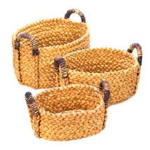 Rustic Wooven Nesting Baskets - 3 Pc Set - $37.35
