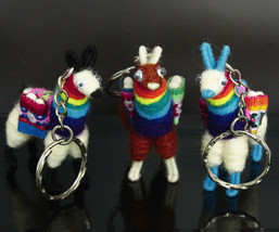 Rainbow Llama Keychain, magnet, ethnic decoration, anniversary gift bag ... - €4,18 EUR+