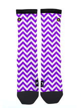 Custom Purple Chevron Socks ALL Sizes FAST SHIPPING - $12.99