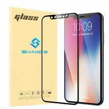 Screen Protector iPhone X and XS Tempered Glass Premium Full Coverage - $5.99