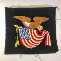Vintage Advance Art 10B Punch Needle Embroidery American Eagle God Bless... - $85.00