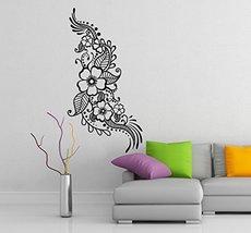 ( 24'' x 47'') Vinyl Wall Decal Henna Pattern with Flowers / Tattoo Design Art D - $38.31