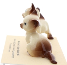 Hagen-Renaker Miniature Cat Figurine Siamese Mama and Papa Chocolate Point image 3
