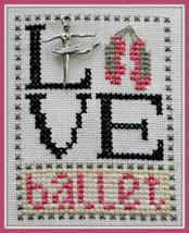 Love Ballet Love Bits cross stitch chart Hinzeit - $6.00