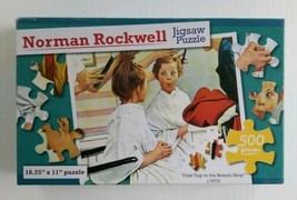 Norman Rockwell First Trip to the Beauty Shop 18.25x11 New Sealed 500 pc... - $12.75