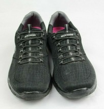 Skechers women's shoes relaxed fit air cooled memory foam black size US 9.5 image 2