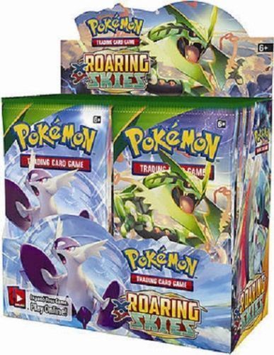 XY Roaring Skies 12 Booster Pack Lot 1/3 Booster Box POKEMON Trading Cards