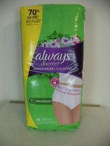 Always Discreet Incontinence Underwear for Women, Size XL. 26 Count - $18.81