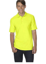 Gildan Dry Blend 50/50 Jersey Knit S/S Polo Shirt 5XL Neon Lime - $11.29