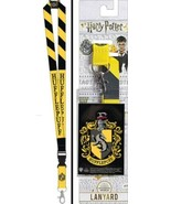 Harry Potter House Of Hufflepuff Colors and Name Lanyard with Logo Badge... - $4.99