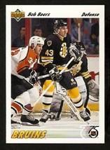 Boston Bruins Bob Beers 1991 Upper Deck Hockey Card 490 - $0.50