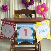 3 Pcs/set 1.5M Children's 1st Birthday Party High Chair Decorating Kit B... - $6.50 CAD