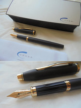 CROSS CENTURY fountain pen in black and gold Original in gift box with garantee - $44.00
