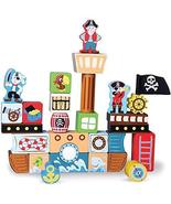By-Imagination Generation Toy Playset, 29pcs Pirate Ship Wooden Building... - $43.99