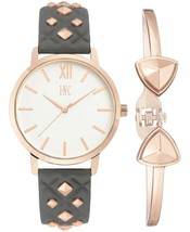 I.N.C. Women's Rose Gold Embossed Faux Leather Strap Studs 38mm Watch + Bracelet image 1