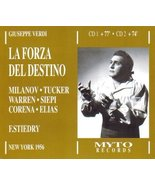 Verdi: La Forza Del Destino [New York -- March 17, 1956; Milanov, Tucker... - $24.74