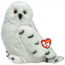 Hootie The Great White Snow Owl Ty Beanie Buddy MWMT Retired Plush Colle... - $29.65