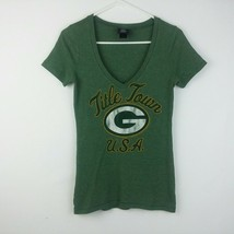 NFL Green Bay Packers Shirt Womens Title Town USA Tee T-Shirt - Size M - $17.20