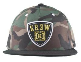 KR3W Men's Camo FTW Fu$k the World Blood and Concrete Snapback Baseball Hat NWT