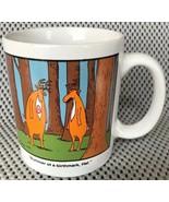 The Far Side Coffee Cup Mug Deer Bummer Of A Birthmark Hal 1986 Larson B... - $14.99