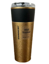 NEW Starbucks Fall 2021 Gold Stainless Steel Cold Brew Tumbler 16oz Cold... - $37.62