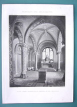 ARCHITECTURE PRINT 1878: FRANCE Museum of Amiens & Picardy Interior - $13.46