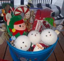 Lot 18 Christmas Ornament Mix Ballerina Sleigh Candy Cane Santa Snowman ... - $6.44