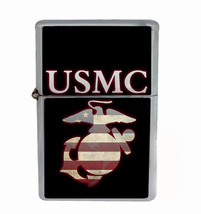 Marines Rs1 Flip Top Oil Lighter Wind Resistant With Case - $13.95