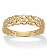 Solid 10k Yellow Gold Celtic Weave Band - $119.82
