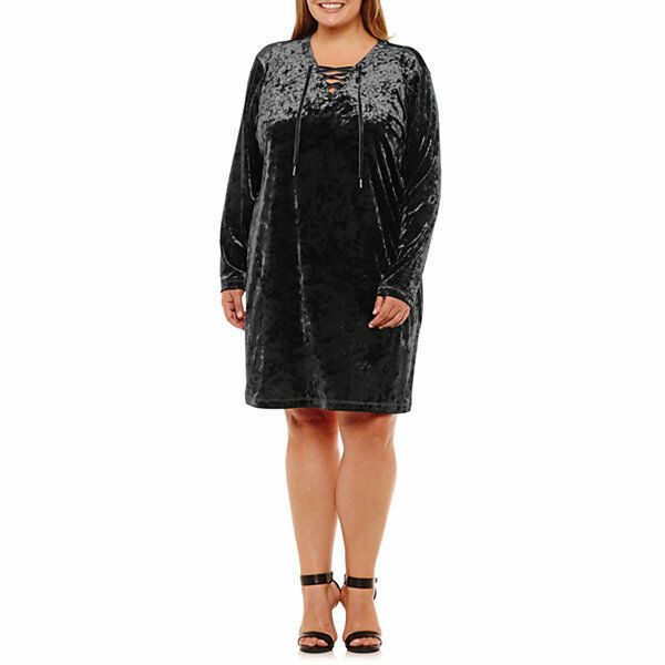 Primary image for NEW! NWT City Streets BLACK VELVET PARTY HOLIDAY Long Sleeve Plus Size  1X