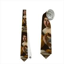 necktie tie Le jouer de lut Caravage  classic art - $22.00