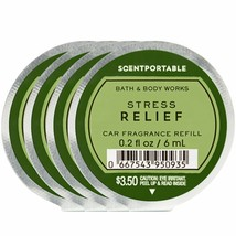 Bath and Body Works 4 PACK Scentportable Fragrance Refill Stress Relief ... - $25.39