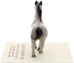 Hagen-Renaker Miniature Ceramic Horse Figurine Tiny Gray Stallion image 4