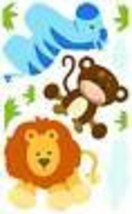 Polka Dotted Baby Jungle Animal Peel and Stick Mini Mural Appliques BYR9441 - $15.98